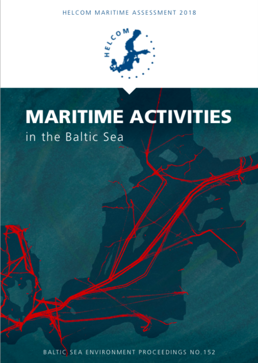 "Kansikuva julkaisusta ""Maritime activities in the Baltic Sea, 2018"""